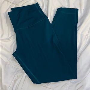 Lululemon Teal Full Length Leggings Size 10